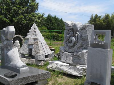 岩瀬石彫展覧館にて